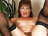 Naughtiest mature woman with slippery vagina