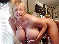 Tempting mature milfs taking off their dress
