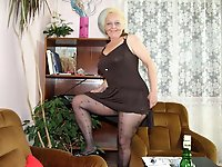 Sexiest old mademoiselle playing herself
